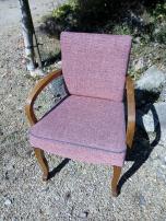 Réfection complète de ce fauteuil bridge. Tissu Sabara de chez Casal
