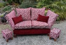 Réfection complète de ce canapé Knowle. Tissu Hopke, Luxury et Casual.
