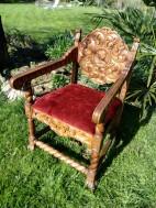 Refection de la galette de ce fauteuil mexicain. Tissu Casual de chez Hopke