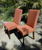 Couverture tissu de 6 chaises contemporaines. Tissu Enoa.
