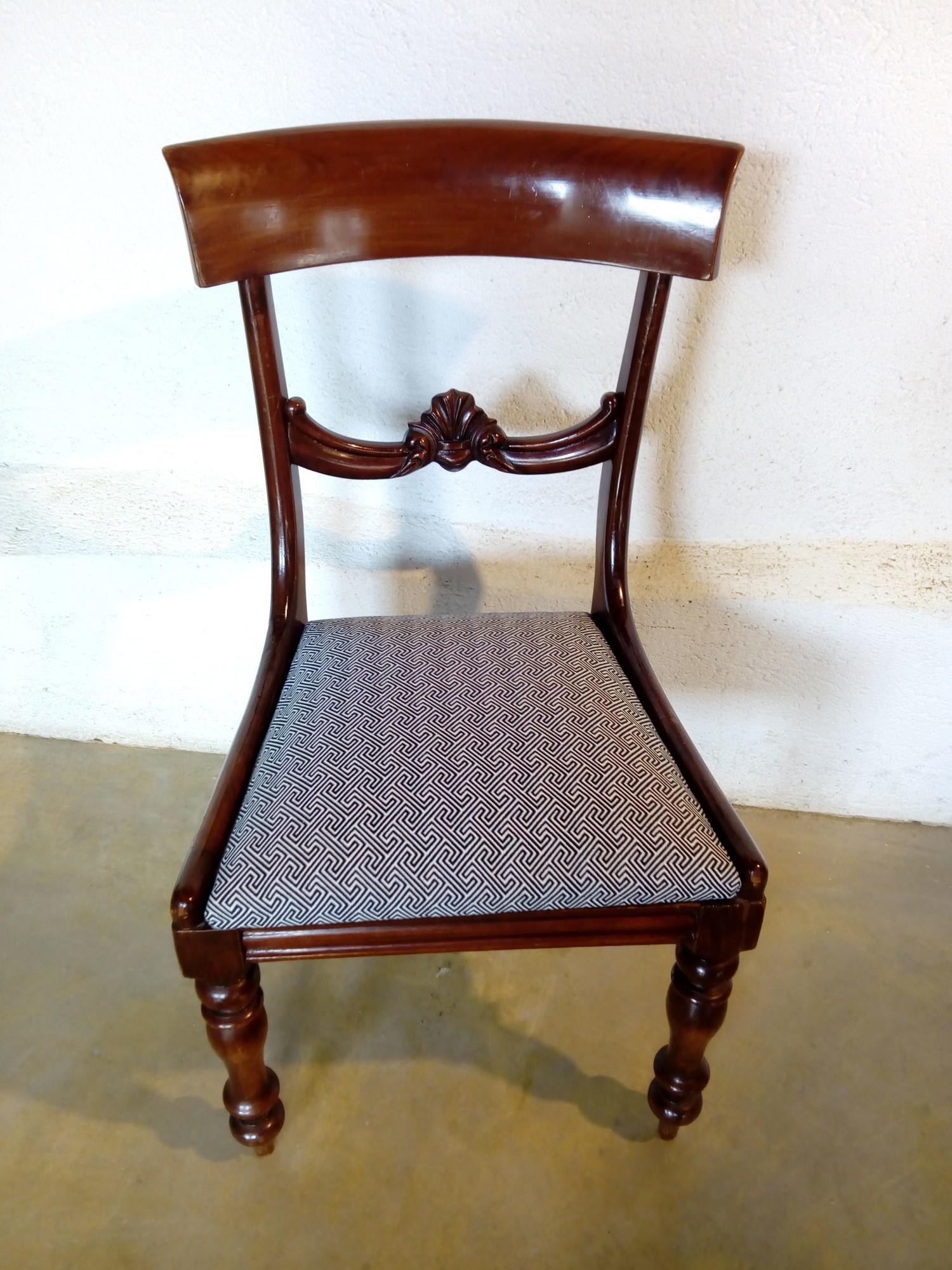 Galettes de chaises tissu Mercury, Clarke & Clarke